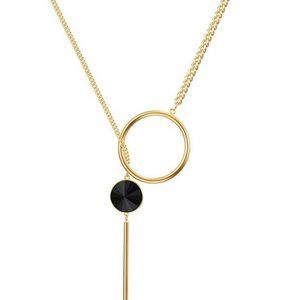 Gold Silver and Coffee Color Elegant Pendant Necklace